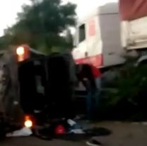 Terrible accidente en ruta 9: piratas del asfalto volcaron con un camión